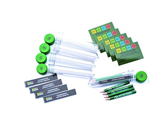 geo-versand 5 x Petling 13cm + WASSERFESTE Logbücher + Stift + klar Aufkleber komplett Set Paket Geocaching Cache Versteck grün 13 cm