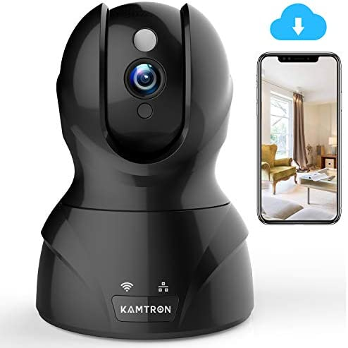 Security Camera WiFi IP Camera - KAMTRON HD Home Wireless Baby/Pet Camera with Cloud Storage Two-Way Audio Motion Detection Night Vision Remote Monitoring
