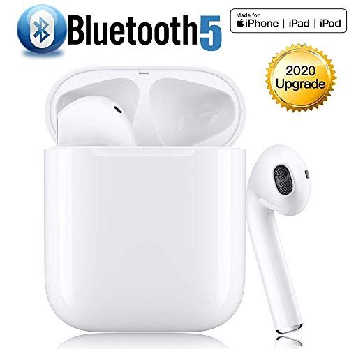 Auriculares Bluetooth 5.0 Auricular Inalámbrico reducción de Ruido estéreo 3D HD Control Táctil Auriculares In-Ear IPX5 Impermeables Sport Auriculares para Android/iPhone/Airpods/Samsung