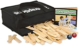 MindWare KEVA Contraptions: 400 Plank Building Set in a Canvas Tote