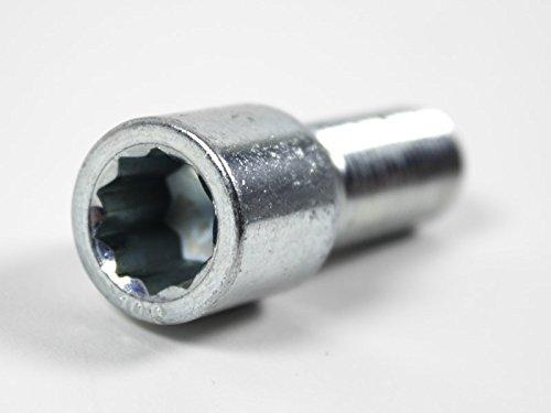 X-Parts Radschraube Schraube M12x1,5 mit Stern Kegel 60 Grad Sternschraube Schaft 40mm