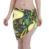 Tengyuntong Sarong de Playa Textura de Aguacate para Alimentos ecológicos y saludables Paños Cortos Envolturas de Bikini Trajes de baño Falda para Nadar en la Playa