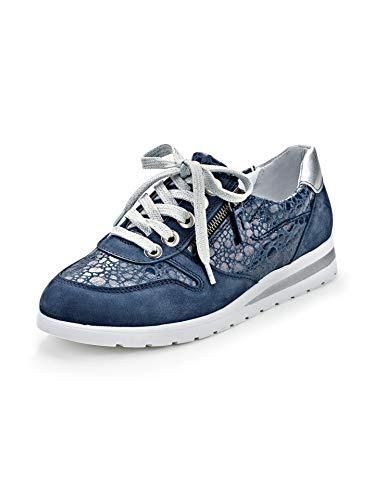 Avena Damen Reißverschluss-Sneaker Softness Blau Gr. 41