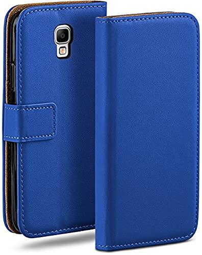 moex Klapphülle kompatibel mit Samsung Galaxy Note 3 Neo Hülle klappbar, Handyhülle mit Kartenfach, 360 Grad Flip Hülle, Vegan Leder Handytasche, Blau
