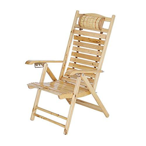 LKK-KK Silla Silla de ciprés de sillón reclinable Comida en la Oficina Rotura Silla de Playa Tumbona Plegable Silla Plegable