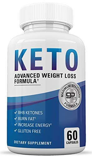 Keto Diet Pills - Keto BHB Supplement to Burn Fat Fast - Keto Slim Advanced Weight Loss Pills for Women and Men - Exogenous Ketones - Boost Energy and Metabolism - 60 Ketogenic Supplements