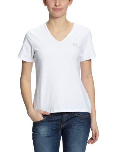 Fruit of the Loom Lady Fit V Neck T-shirt, zwart