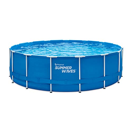 """Summer Waves 15' Active Frame Above-Ground Pool, 15'x48"""" -  Polygroup Trading, P2001548F"""