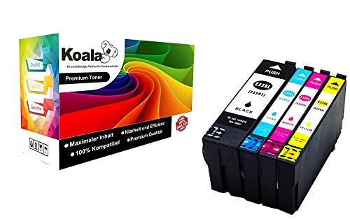 Koala 4 Cartucce Sostituzione per Epson 35XL T3591 T3592 T3593 T3594 per Epson Workforce Pro WF-4720DWF WF-4725DWF WF-4730DTWF WF-4740 (1*Nero 1*Ciano 1*Magenta 1*Giallo)