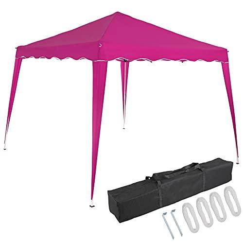 Deuba Pavillon Capri 3x3m Pop-Up UV-Schutz 50+ Wasserdicht Garten Party Faltpavillon Partyzelt Gartenpavillon Fest Pink