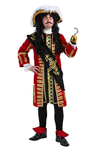 Elite Captain Hook Costume Captain Hook Pirate Costume Adult Large