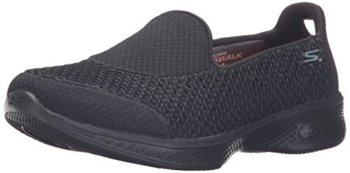 Skechers Go Walk 4 - Kindle, Damen Sneakers, Schwarz (Bbk), 40 EU (7 UK)