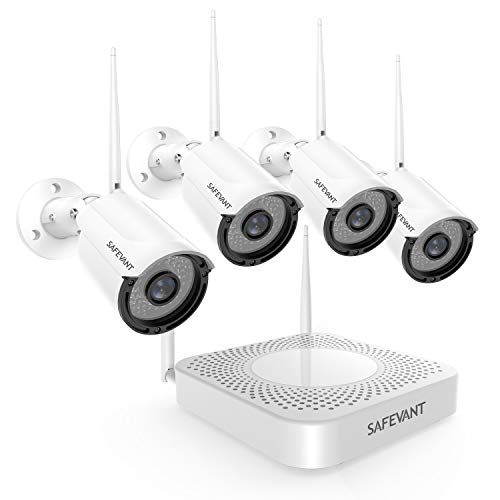 Wireless Security Camera System with 1TB Hard Drive, SAFEVANT 1080P 8 Channel Video Security...