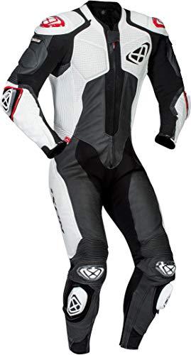 Ixon Herren Lederkombi schwarz/weiß S