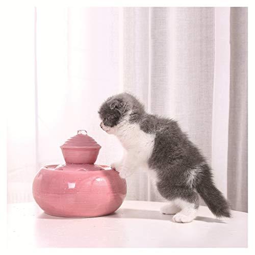 58SD Pet Supplies Trinkbrunnen für Katzen und Hunde, automatischer Springbrunnen mit automatischer Durchblutung, 1,5 l, Wasserfluss