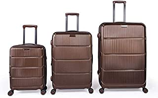 Magellan Hardside spinner luggage Set of 3 pieces with TSA Lock -Brown