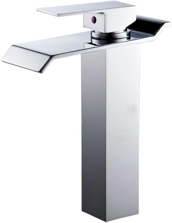 Waterfall Bathtub Mixer Faucet, Tap Rainshower Hand Shower Set Bath Shower Bathroom Fitting Chromed