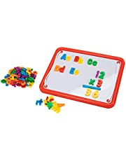 Educational Insights Magnetic AlphaBoard Kit, Includes 72 Magnetic Letters and 27 Math Symbols and Numbers, Ages 4 and up