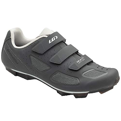 Louis Garneau Men's Multi Air Flex II Bike Shoes for Commuting, MTB and Indoor Cycling, SPD Cleats Compatible with MTB Pedals, Asphalt, 42