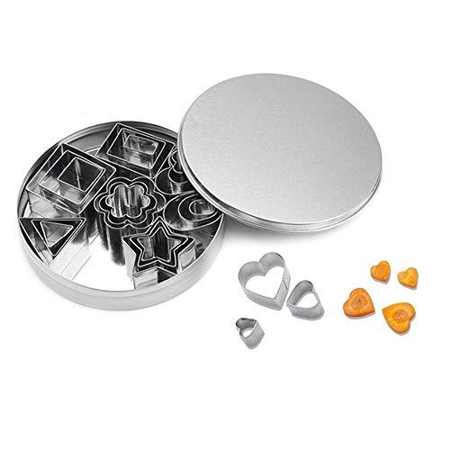 CXZC Juego de cortadores de Galletas de Metal, Mini cortadores de Galletas...