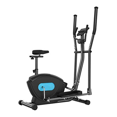 HHJJ Elliptical Machine,3 in 1 Magnetic Control Cross Trainer,Gym Household Portable Small Ultra Quiet Equipment,for Men and Women Use RunningMachine1121 (Color : With seat)