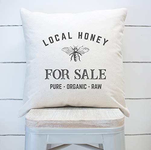 Tr73ans Lokale Honing Te Koop Kussensloop Bee Kussensloop Honingbij Decor Vintage Bee Decor Lente Kussensloop
