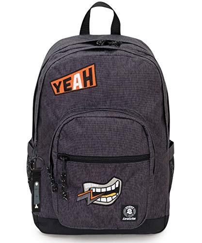 Invicta rugzak, breder pak, grijs, tas voor PC, 38 liter, voor school en vrije tijd.