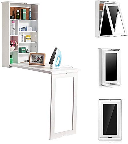 TILEMALL Fold Out Wall Mounted Convertible Writing Floating Desk – White