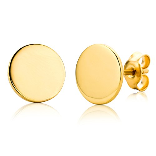 Miore Women's Earrings 9 Carat (375) Yellow Gold