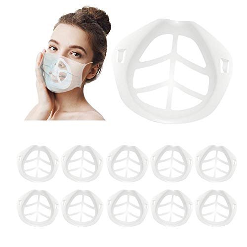 Dough.Q 3D Face Inner Support Bracket(Pack of 10), More Space for Comfortable Breathing, Masks Lipstick Protection Reusable Silicone Bracket
