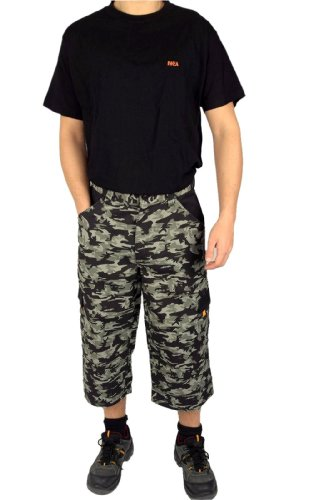 Iwea Arbeitshose Skaterhose 7/8 Hose in Camouflage Army Muster, L