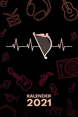 KALENDER 2021 A5: für Harfenist - Harfe EKG Terminplaner mit DATUM - Instrumente Organizer für...