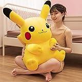 Xiaotian Jouet en Peluche Pikachu Poupée Jouet en Peluche Cadeau d'anniversaire Big Doll Pikachu Sleeping Oreiller Girl Doll 90cm,32cm