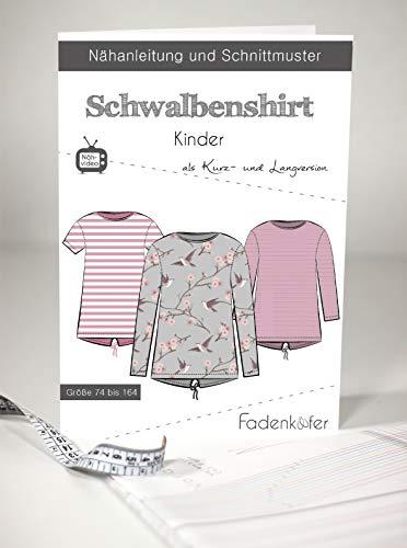 Schnittmuster und Nähanleitung - Kinder Schwalbenshirt