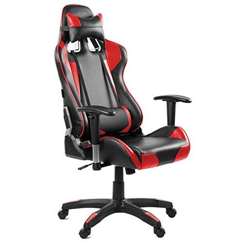 Silla oficina gaming sillon despacho escritorio reclinable giratoria Rojo McHaus