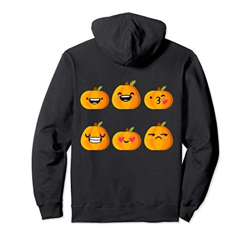 Dumme Kürbis Emoji lustige Gesichter Pullover Hoodie