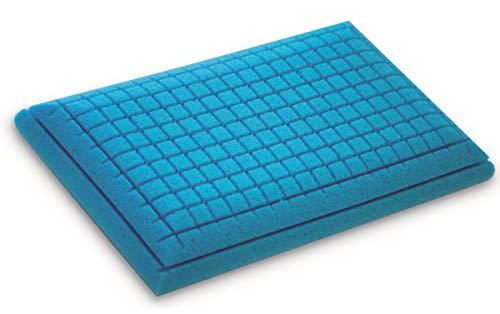 Supply24 since 2004 NEU Gel/Gelschaum Kopfkissen/Bauchschläferkissen/Rückenschläferkissen Blue Memory Foam mit Aloe Vera Bezug 80 x 40 cm Höhe 12 cm softes/weiches Kissen komplett waschbar günstig