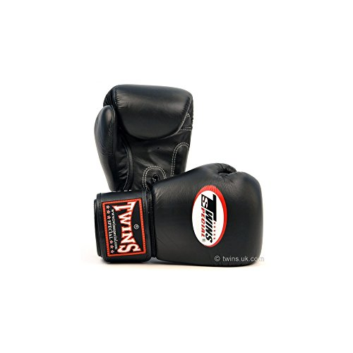 Twins Special Black Muay Thai Boxing Gloves 8oz