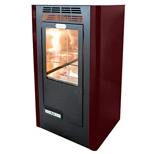 Tecno Air System Ruby Compact Freestanding Bioethanol Black, Bordeaux – Stove (Freestanding, Black, Bordeaux, Ceramic, 5 L, LCD, Buttons)