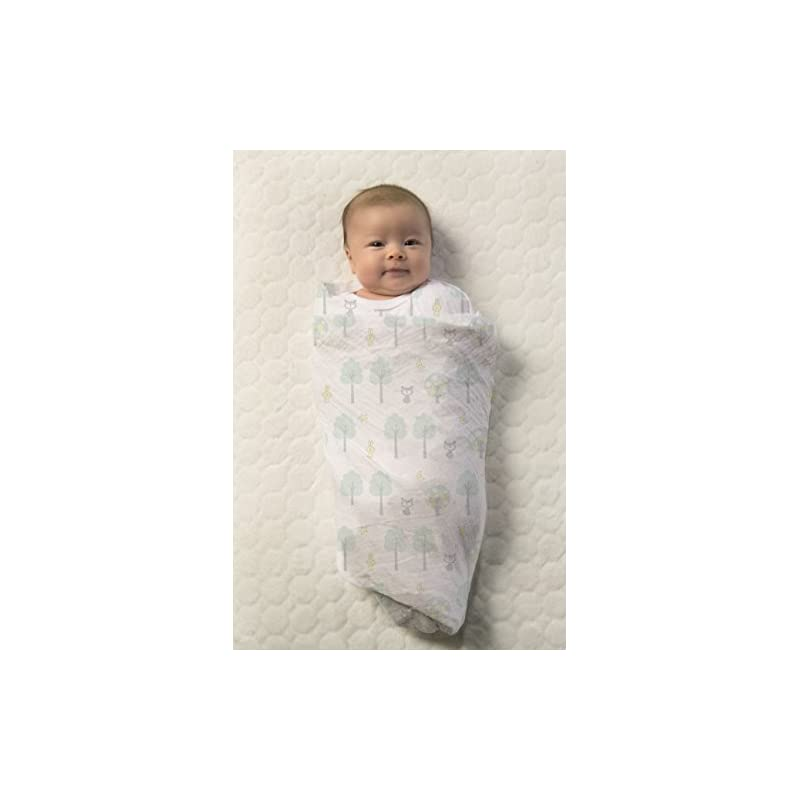 crib bedding and baby bedding swaddledesigns cotton muslin swaddle blanket, green woodland