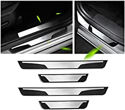 SHAOHAO Peugeot Accessories Door Sill Protector Compatible for Peugeot 3008 5008 508 508SW 2008 E2008 Door Entry Protector Scratch-Proof and Aging Door Sill Plate Scuff Guard for Peugeot