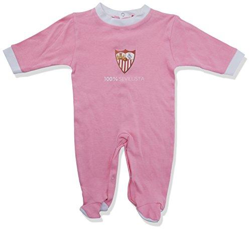 Sevilla FC Pelsev Pelele, Bebé-Niños, Rosa (Rosa/Blanco), 0 meses