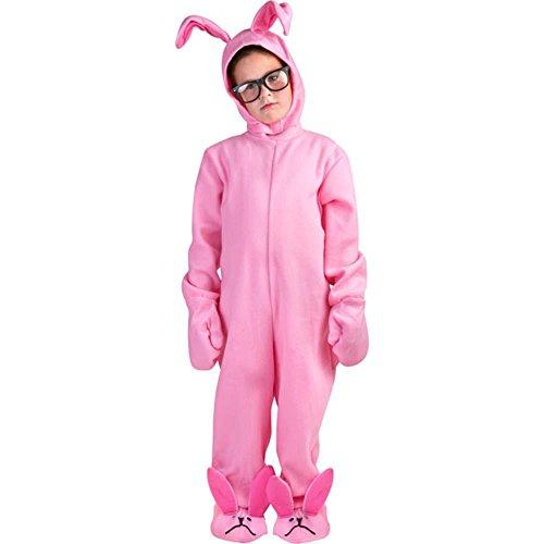 Child Christmas Pink Rabbit PJ's Costume