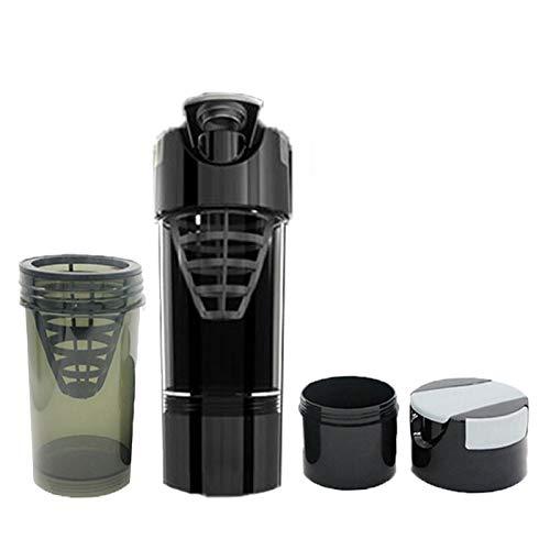 KAZOKUYiZi Polvo de proteína de suero de proteína Shaker Pro Bottle para Gafas de Gimnasio Copa del Mezclador de nutrición Deportiva para la Botella de Agua de la proteína en Polvo Botellas