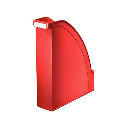 LEITZ 24760025 - Cajetines de Archivo Plus Lomo 70 color rojo