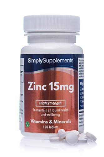 Zinc Tablets 15mg | Potent One-a-Day Formula | Vegan & Vegetarian Friendly | 120 Tablets | Supports the Immune System, Fertility & Healthy Skin, Hair & Nails | Wheat-Free & Fish-Free | Manufactured in the UK