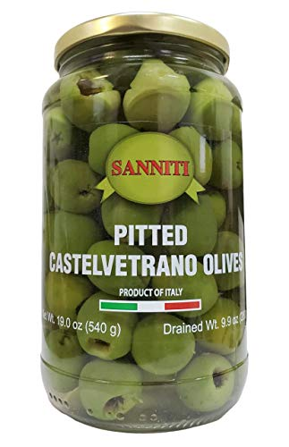 Sanniti Pitted Castelvetrano Olives - 19 Ounce Jar