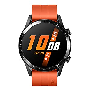 HUAWEI Watch GT 2 2019 Bluetooth SmartWatch, Longer Lasting 2 Weeks Battery Life, Waterproof, Compatible with iPhone and Android, 46mm No Warranty International Version (Sunset Orange)