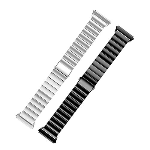PartyKindom 2 correas de reloj compatibles con Fitbit ionic, correas de reloj inteligentes ajustables de repuesto para relojes inteligentes