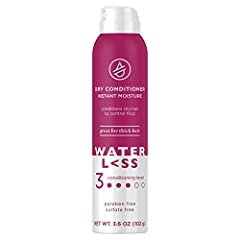 DRY CONDITIONER: Tame flyaways, frizz, and dry ends with Waterless Dry Conditioner Instant Moisture Spray SAFE INGREDIENTS: Detangle and soften your hair with this paraben-free and sulfate-free dry conditioner EASY TO USE: Use wherever you happen to ...